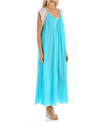 Amanda Rich Lace Cap Sleeve Ankle Length Nightgown