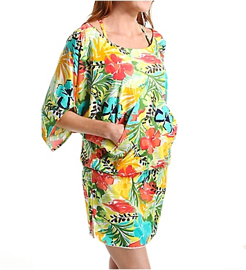 Anne Cole Island Time Caftan Swim Cover Up