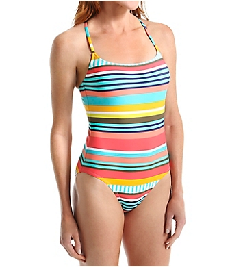 Anne Cole Tropication Criss-Cross Back One Piece Swimsuit