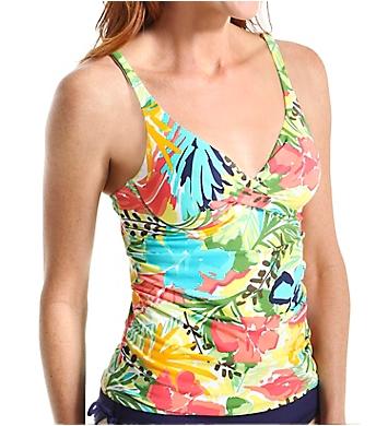 Anne Cole Island Time Twist Front Underwire Tankini Swim Top