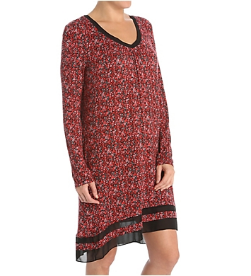 Anne Klein Holiday Luxe Long Sleeve Chemise