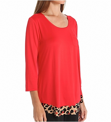 Anne Klein Keeping It Cool 3/4 Sleeve Top