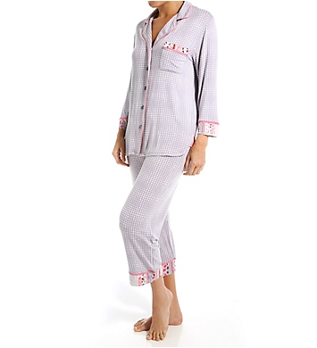 Anne Klein Fall Paradise 3/4 Sleeve Cropped PJ Set