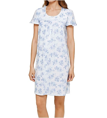 Aria Flowery Short Sleeve Short Nightgown
