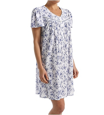 Aria Blues Short Sleeve Short Nightgown