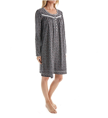 Aria Serenity Long Sleeve Short Nightgown