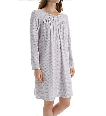 Aria Brushed Cotton Jersey Short Nightgown