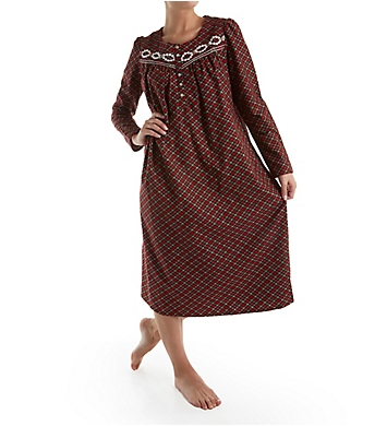 Aria Flannel Long Sleeve Ballet Nightgown