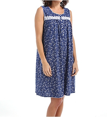 Aria Flowery Sleeveless Short Nightgown