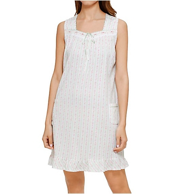 Aria Mint Ditsy Sleeveless Short Nightgown