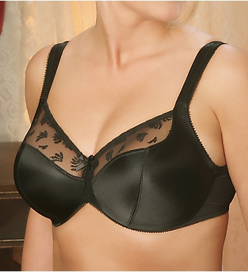 Aviana Satin and Lace Minimizer Bra