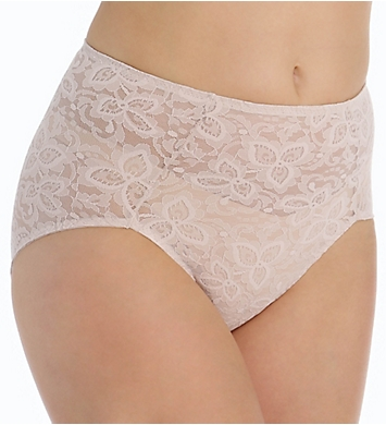 Bali Firm Control Lace 'N' Smooth Brief Panty