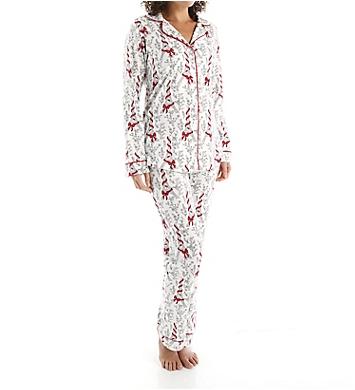 BedHead Pajamas Bow Eiffel Tower Long Sleeve Classic PJ Set