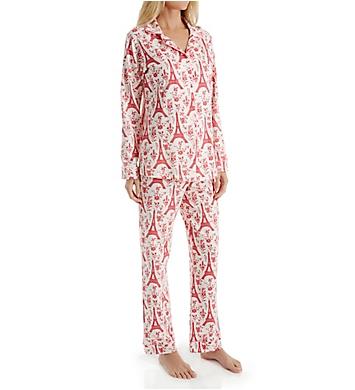 BedHead Pajamas Poinsettia Eiffel Long Sleeve PJ Set