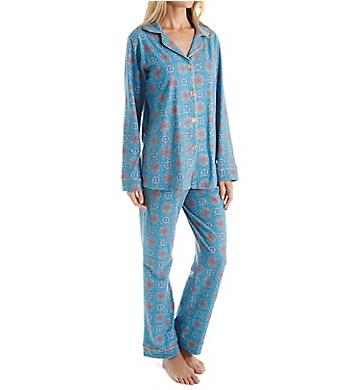 BedHead Pajamas Blue Road To Morocco Long Sleeve PJ Set