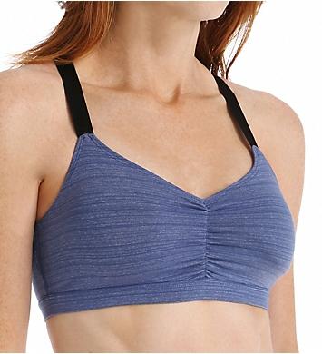 Beyond Yoga Stripe Supplex Shirred Crossback Bra