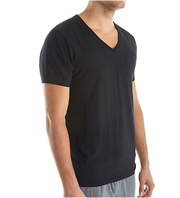 Bread and Boxers Jersey Short Sleeve Lounge V-Neck Shirt
