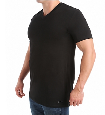 Calvin Klein Tall Man 100% Cotton V-Neck - 2 Pack