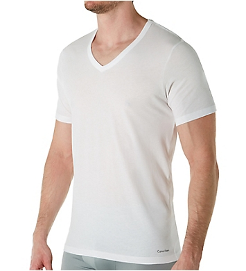 Calvin Klein Cotton Classic Slim Fit V-Neck T-Shirt - 3 Pack