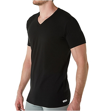 Calvin Klein Cotton Stretch Classic Fit V-Neck T-Shirt - 2 Pack