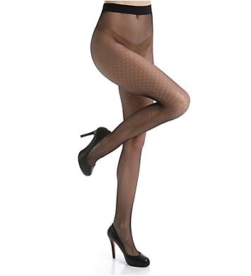 Calvin Klein Open Dot Tulle Sheer Tights