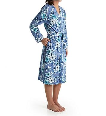 Carole Hochman Blue Floral Ballet Robe