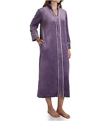 Carole Hochman Blooming Velour Zip Robe