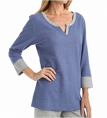 Carole Hochman Lounge Double Faced Jersey Top