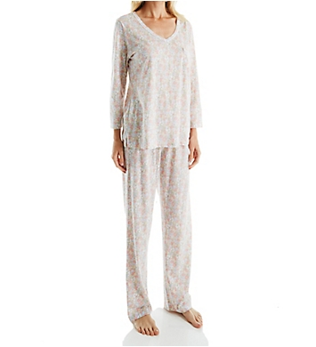 Carole Hochman Lace Long PJ Set