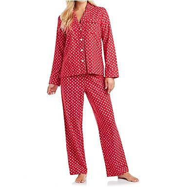 Carole Hochman Holiday Bouquet Flannel Pajama Set