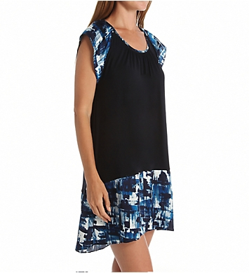 Carole Hochman Midnight Abstract Sleepshirt