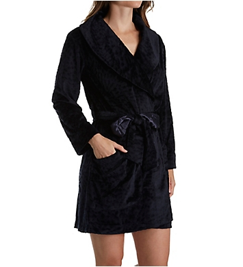 Carole Hochman Midnight Sheared Plush Short Robe
