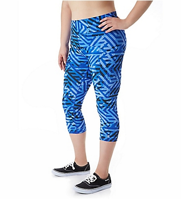 Champion Absolute Plus Size Print Capri with SmoothTec Band