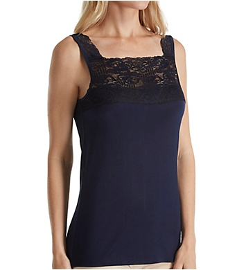 Cuddl Duds SofTech Wide Stretch Lace Tank