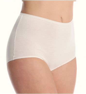 Cuddl Duds Lorraine Cotton Full Brief with Picot Trim Panty