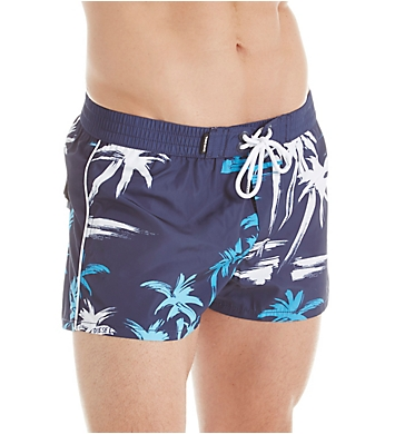 Diesel Sandy-E Palm Print Swim Trunks