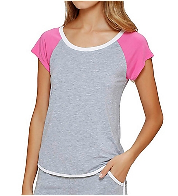 DKNY Heart to Please Short Sleeve Top