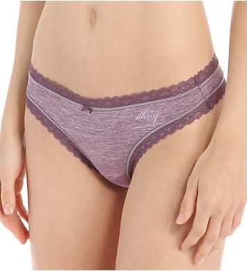 DKNY Signature Lace Heather Thong