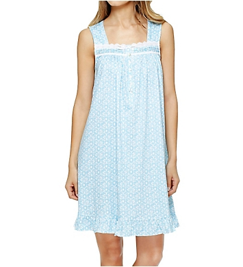 Eileen West Periwinkle Jersey Short Nightgown
