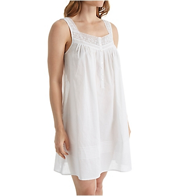 Eileen West Cotton Lawn Net Lace Short Chemise