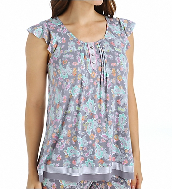 Ellen Tracy Paris Short Sleeve Top