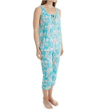 Ellen Tracy Brooklyn Crinkle Tank PJ Set