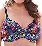 Kaleidoscope Underwire Twist Front Bikini Swim Top