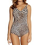 Caya Underwire V-Neck Swimsuit with Adjustable Leg