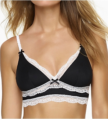 Felina Inviting Micro Modal Bralette with Lace Trim
