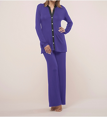 Fleur't Dreaming Of You Button Front Two Piece Pajama Set