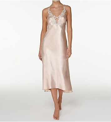 Flora Nikrooz Stella Charmeuse Long Gown With Foam Cup
