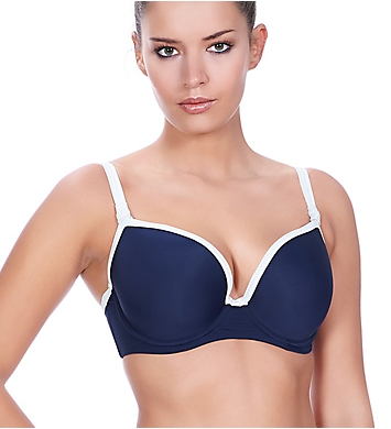 Freya In the Navy Deco Underwire Moulded Bikini Swim Top
