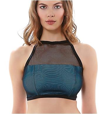 Freya Electra Underwire High Neck Crop Swim Top