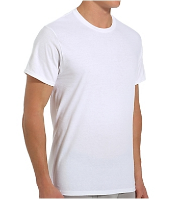 Fruit Of The Loom Tall Man 100% Cotton White Crew T-Shirts - 3 Pack